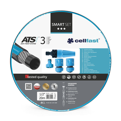 Cellfast Smart Watering Set With Nozzles 0.5 inch x 20m