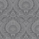 Decoris Damask Gunmetal Grey
