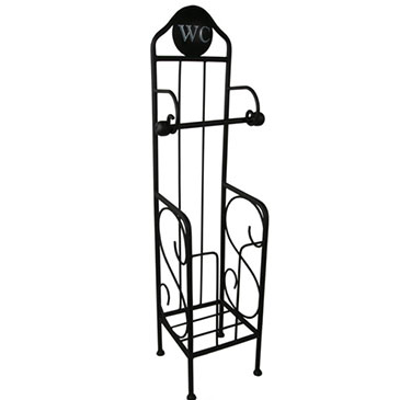 W.C TOILET ROLL STAND BLACK