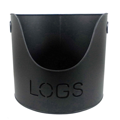 Log Bucket Black