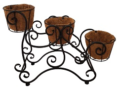 Black Metal 3 Tier Pot Stand