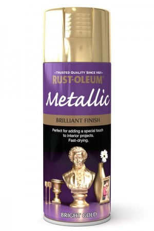 400ML Rustoleum Metallic Bright Gold