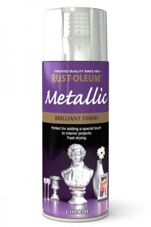 400ML Rustoleum Metallic Chrome