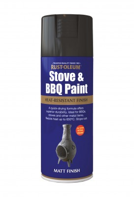 400ML Rustoleum BBQ Paint Black
