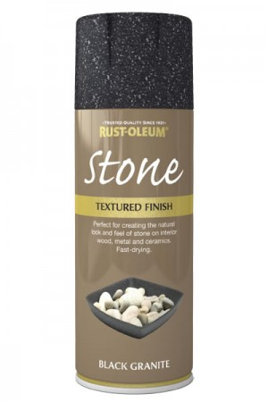 400ML Rustoleum Stone Black Granite