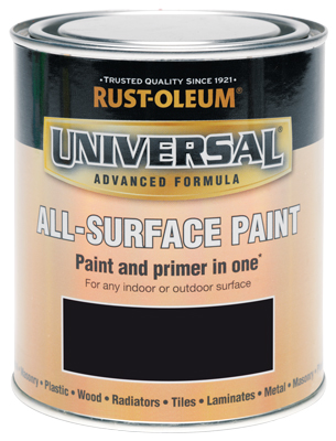 250ML Rustoleum Universal Black Satin